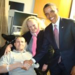 Presedintele american Barack Obama si plt.adj. Florinel Enache